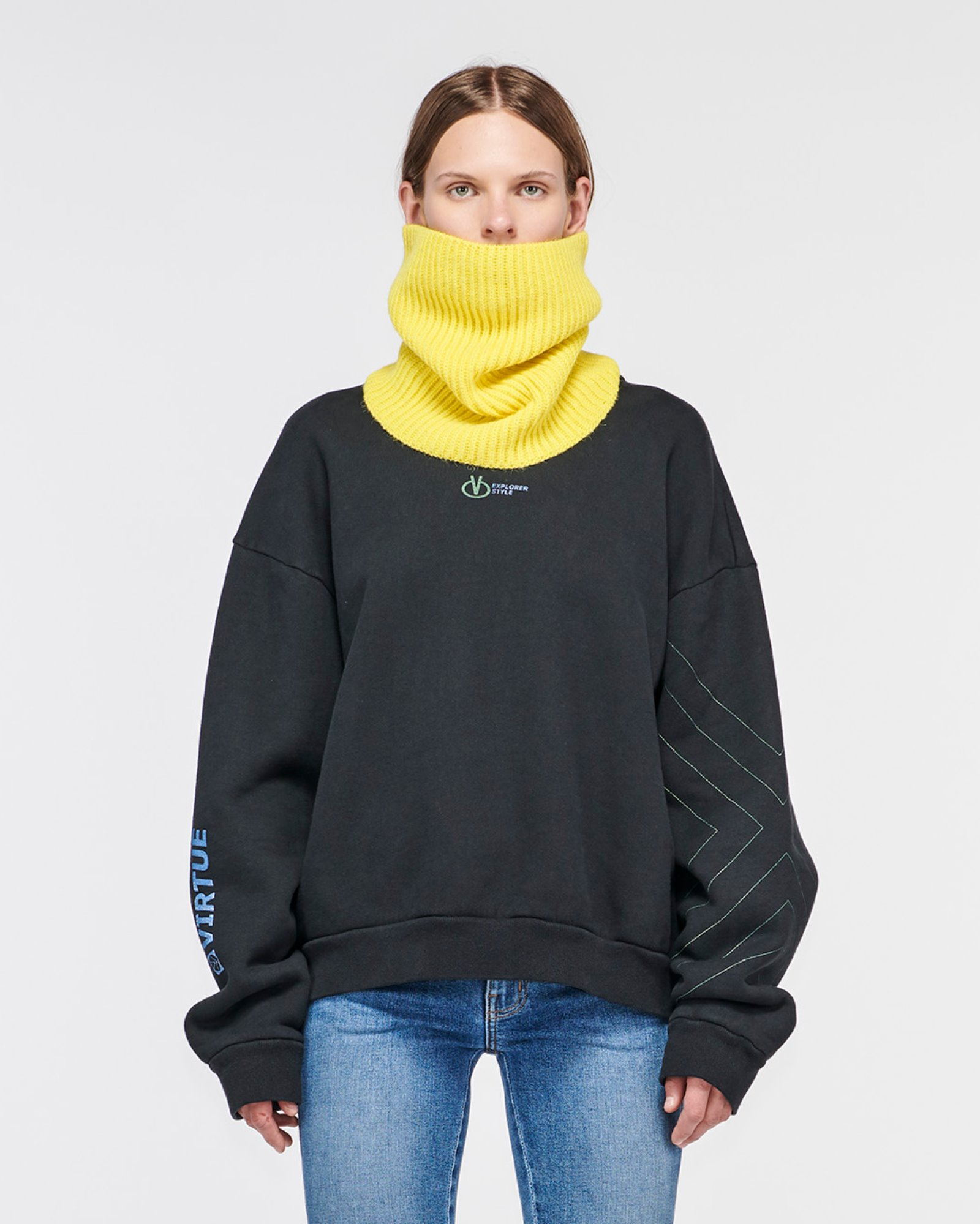 """TAYLOR"" KNIT COLLAR LEMON"