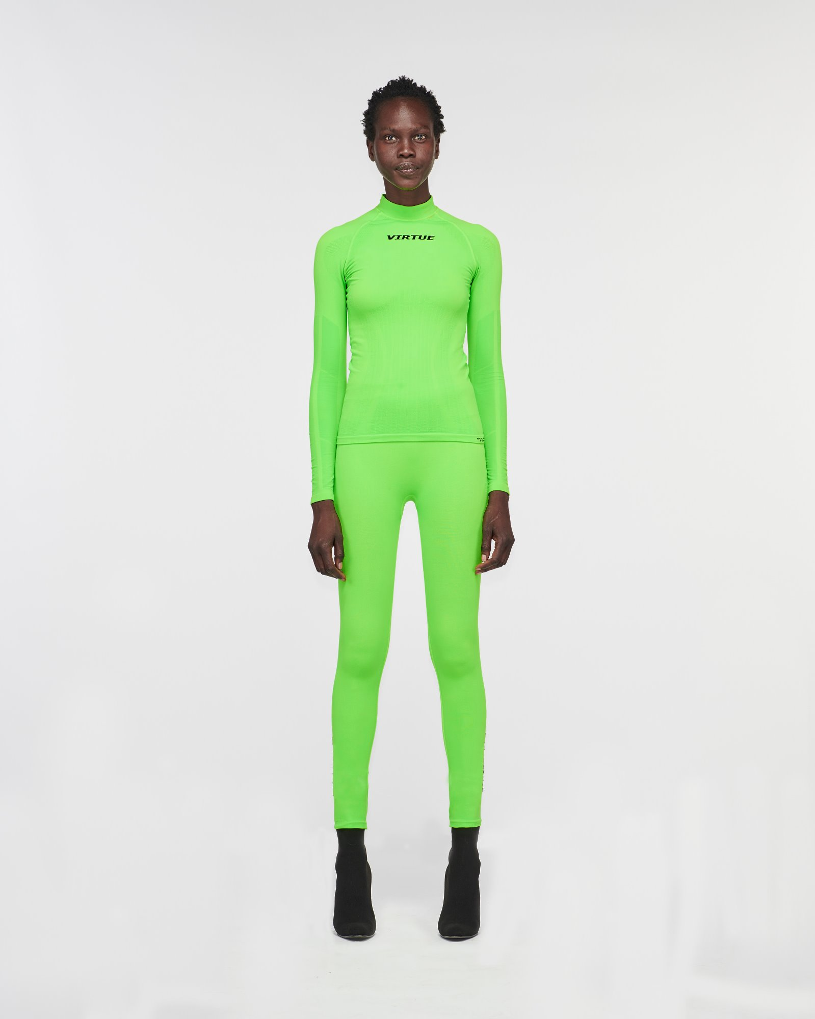 """BEVERLY HILLS"" SEAMLESS LEGGING GREEN FLURO"