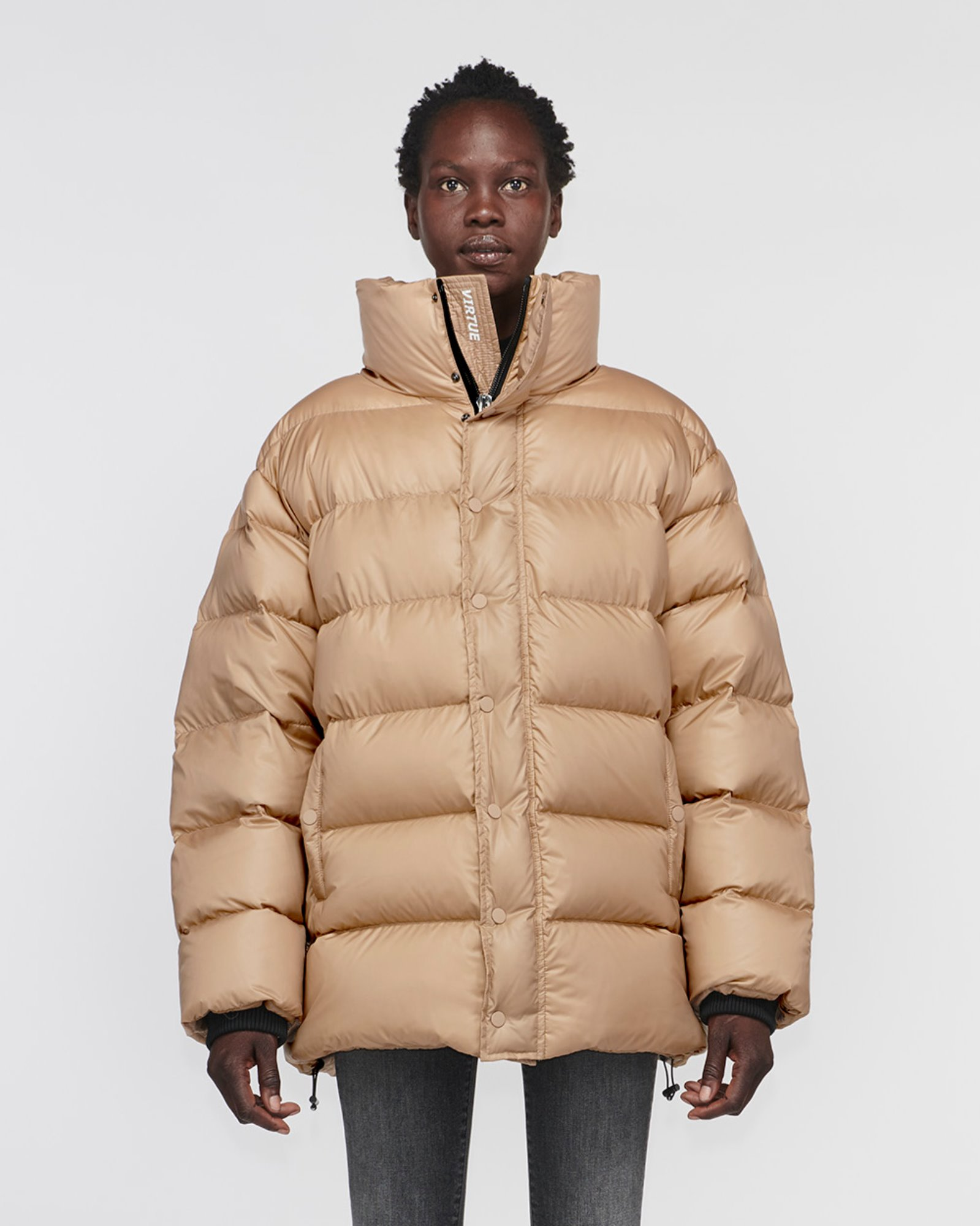 """TOPANGA"" OVERSIZED DOWN JACKET WOOD BROWN"