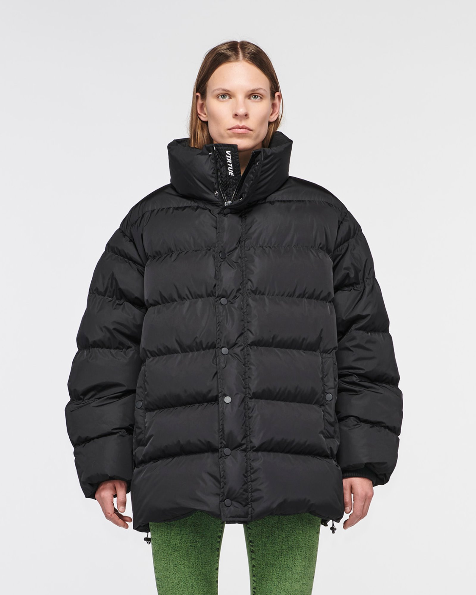 """TOPANGA"" OVERSIZED DOWN JACKET BLACK MATTE"