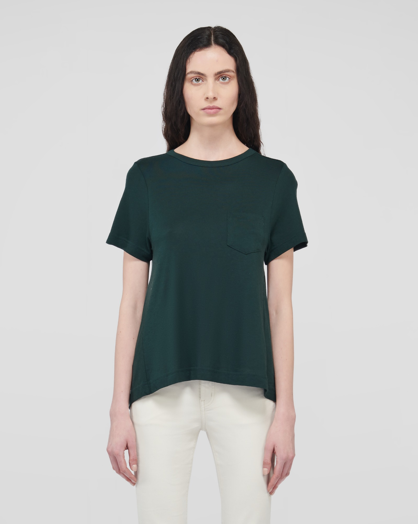 VIRTUE SUPIMA T-SHIRTS DEEP GREEN